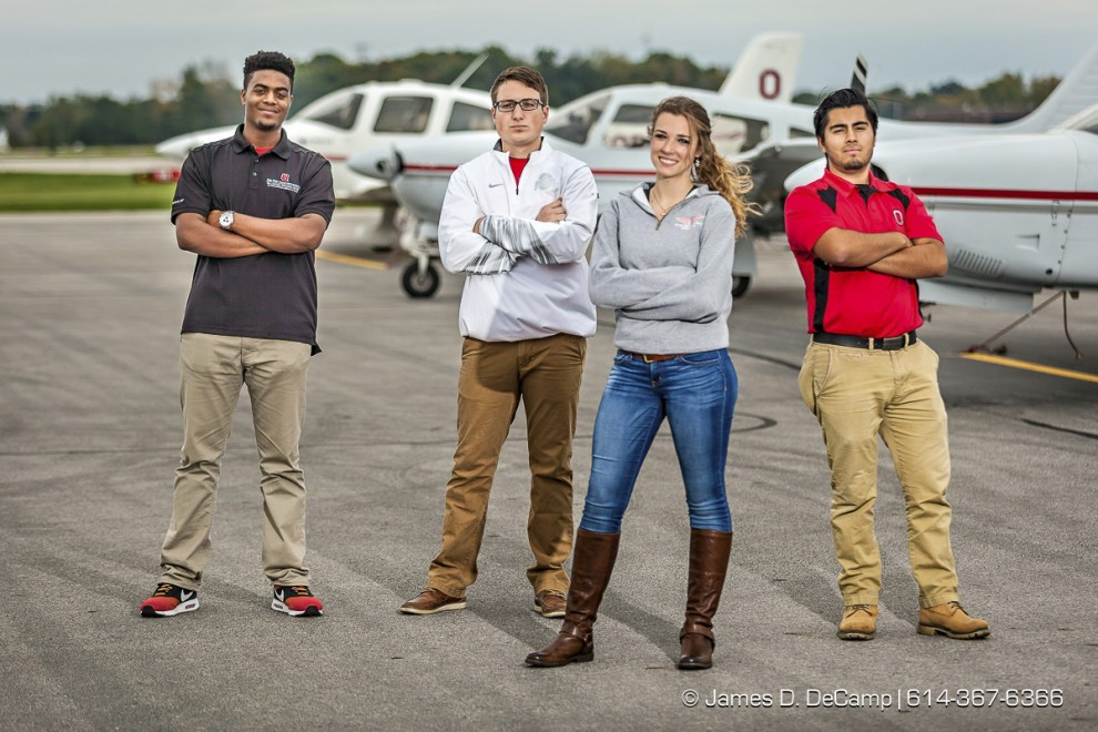 Students from the Ohio State University College of Engineering Aviation Studies Program photographed October 9, 2015 in Columbus, Ohio. (© James D. DeCamp | http://www.JamesDeCamp.com | 614-367-6366)