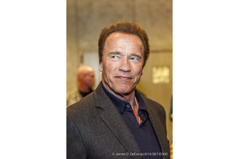 Arnold Schwarzenegger at the 2016 After-School All-Stars Ohio Arnold Experience photographed Friday March 4, 2016 at Dock 580. (© James D. DeCamp | http://www.JamesDeCamp.com & http://www.BlueSkiesHD.com | 614-367-6366) #Schwarzenegger #ASF2016 #JDeCampPhoto #BlueShiesHD #ArnoldSportsFestival #ArnoldClassic #Dock580 #ASASOhio #MayorGinther #Kasich #614 #AsSeenInColumbus #ApoloOhno