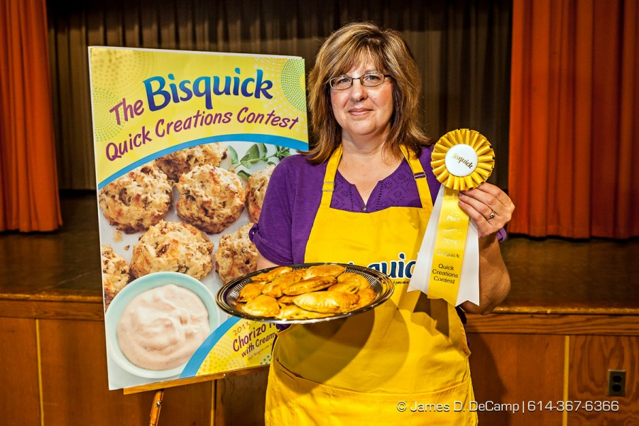The Third place entry of Ruth Ealy, her 'Harvest Pork Empanadas', in the Bisquick Family Favorites Recipe Contest Judging at the 2014 Ohio State Fair photographed Tuesday July 29, 2014 in the Disalle Creative Arts Center at the Ohio State Expo Center & State Fair. (© James D. DeCamp | http://www.JamesDeCamp.com | 614-367-6366)