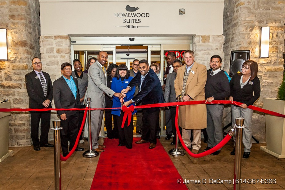 Grand opening of the Homewood Suites by Hilton Columbus/Polaris photographed November 19, 2014. (© Amanda Muschlitz | http://www.JamesDeCamp.com | 614-367-6366)