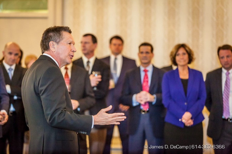 Ohio Governor John Kasich talks with the Ohio Hospital Association Board Members Thursday March 19, 2015 at the Athletic Club of Columbus. (James D. DeCamp | http://www.JamesDeCamp.com | 614-367-6366)