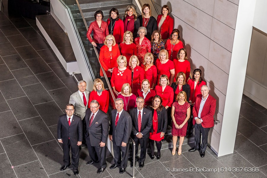 The 2016 American Heart Association Go Red group photographed Monday January 11, 2016 at the Columbus Museum of Art. (© James D. DeCamp | http://www.JamesDeCamp.com | 614-367-6366)