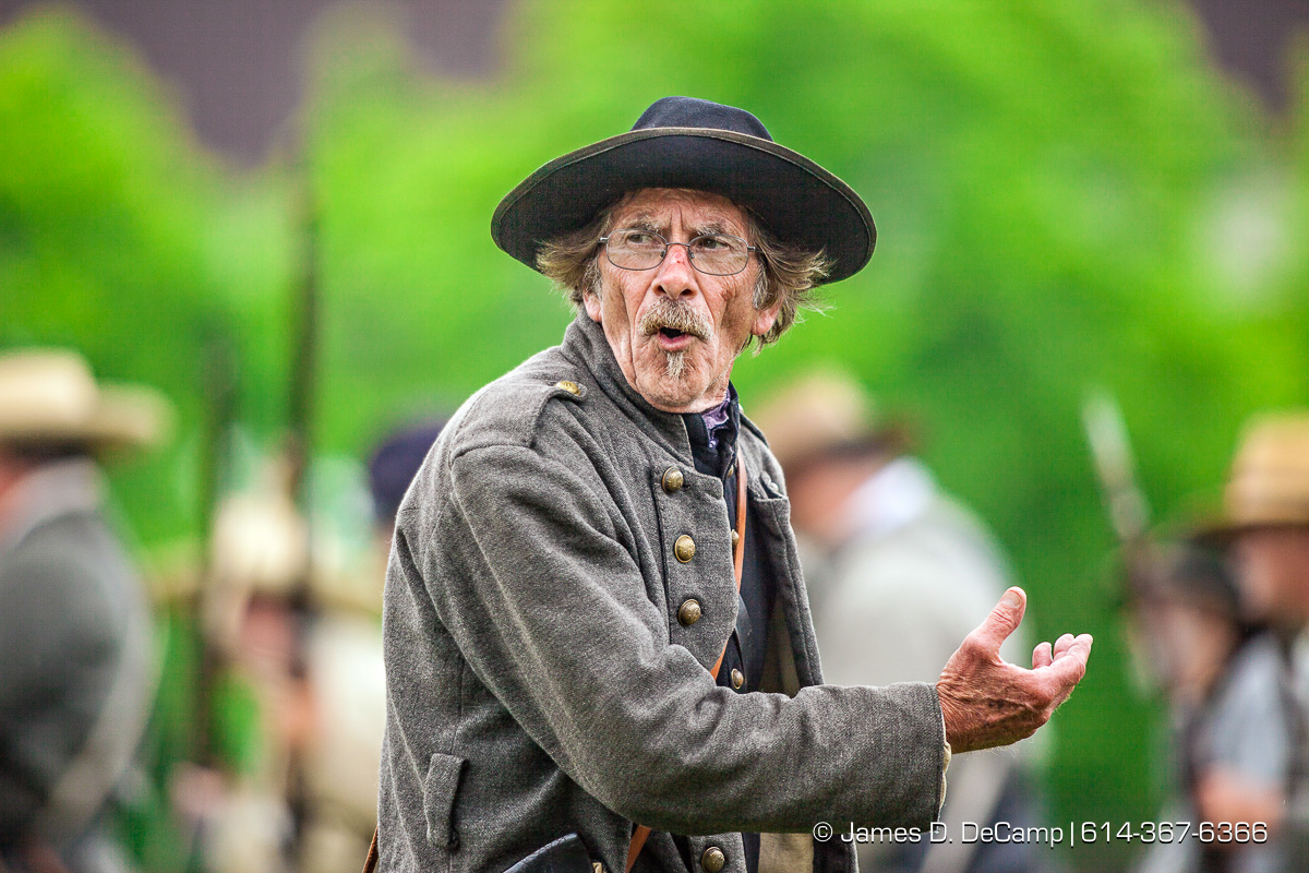 The Ohio Historical Center presentation of 'A House Divided: Civil War Reenactment photographed Saturday June 21, 2014 at the Ohio Village. (© James D. DeCamp | http://www.JamesDeCamp.com | 614-367-6366)