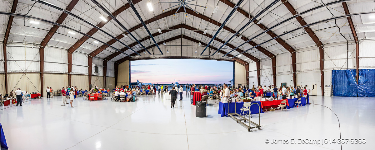 The Ohio State University College of Engineering Center for Aviation Studies Career Eagles Hanger Fest photographed Saturday August 22, 2015 at Don Scott Field. (© James D. DeCamp | http://www.JamesDeCamp.com | 614-367-6366)