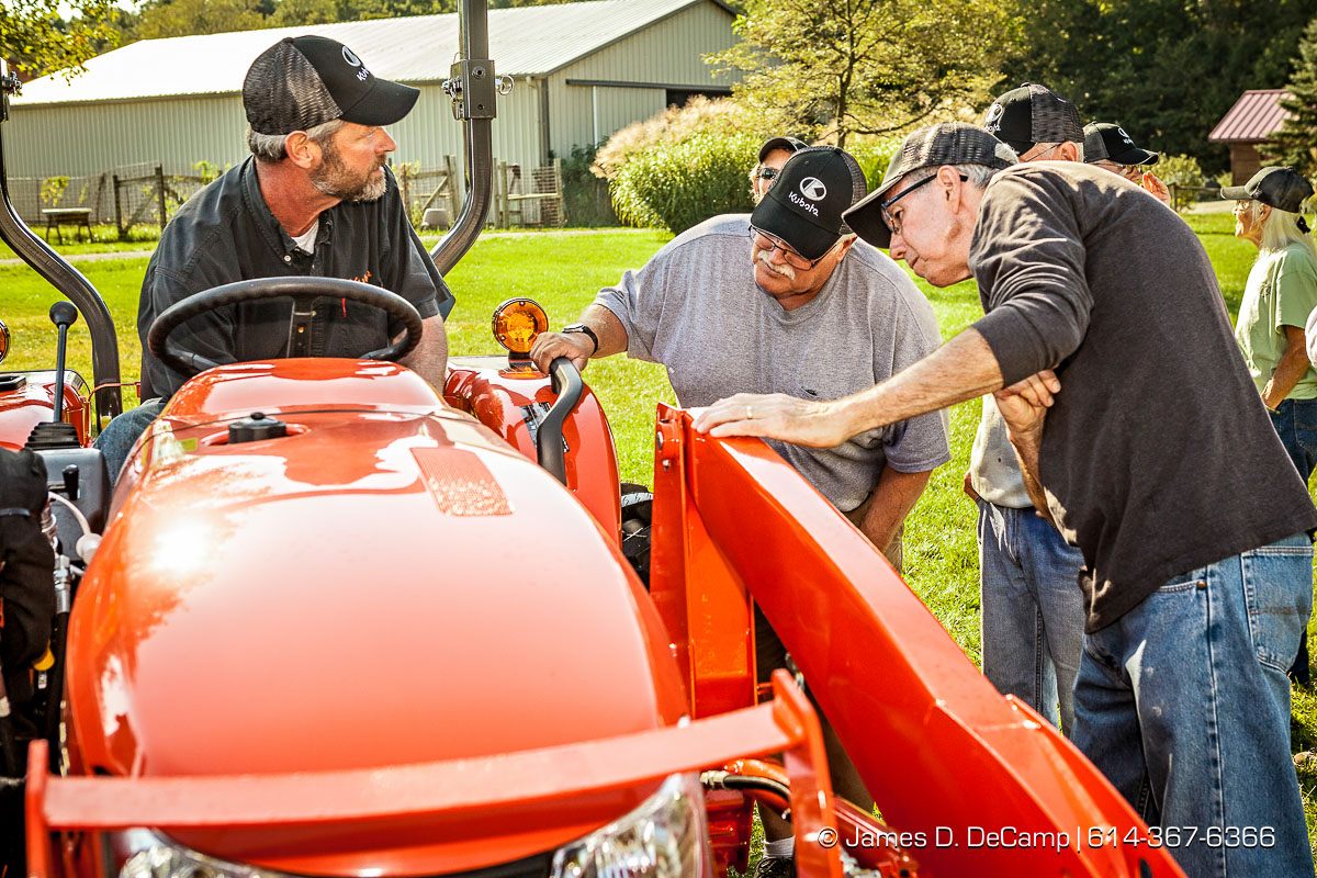 The Stratford Ecological Center receiving a donated Kubota tractor to assist in their educational farming efforts photographed Tuesday September 22, 2015. (© James D. DeCamp | http://www.JamesDeCamp.com | 614-367-6366)
