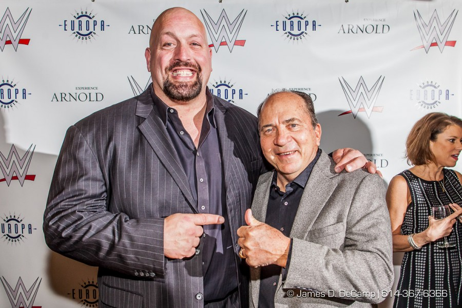 Johhny Bench & WWETheBigShow at the 2016 After-School All-Stars Ohio Arnold Experience photographed Friday March 4, 2016 at Dock 580 with Arnold Schwarzenegger. (© James D. DeCamp | http://www.JamesDeCamp.com & http://www.BlueSkiesHD.com | 614-367-6366) * Full gallery of images at: http://bit.ly/1TGXA6J * #Schwarzenegger #ASF2016 #JDeCampPhoto #BlueShiesHD #ArnoldSportsFestival #ArnoldClassic #Dock580 #ASASOhio #MayorGinther #Kasich #614 #AsSeenInColumbus #ApoloOhno #BraunStrowman #WWETheBigShow #iheartmindy #xcnatch #johnnybench #fairfaxhackley