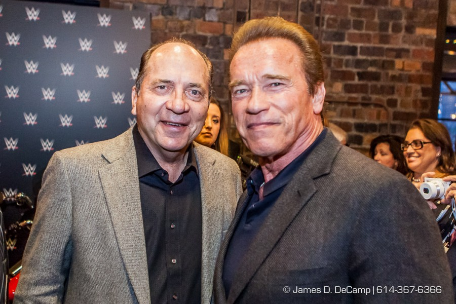 Johhny Bench & Arnold at the 2016 After-School All-Stars Ohio Arnold Experience photographed Friday March 4, 2016 at Dock 580 with Arnold Schwarzenegger. (© James D. DeCamp | http://www.JamesDeCamp.com & http://www.BlueSkiesHD.com | 614-367-6366) ¥ Full gallery of images at: http://bit.ly/1TGXA6J ¥ #Schwarzenegger #ASF2016 #JDeCampPhoto #BlueShiesHD #ArnoldSportsFestival #ArnoldClassic #Dock580 #ASASOhio #MayorGinther #Kasich #614 #AsSeenInColumbus #ApoloOhno #BraunStrowman #WWETheBigShow #iheartmindy #xcnatch #johnnybench #fairfaxhackley