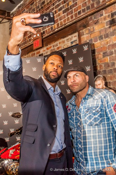 Selfies with Randy Couture at the 2016 After-School All-Stars Ohio Arnold Experience photographed Friday March 4, 2016 at Dock 580 with Arnold Schwarzenegger. (© James D. DeCamp | http://www.JamesDeCamp.com & http://www.BlueSkiesHD.com | 614-367-6366) ¥ Full gallery of images at: http://bit.ly/1TGXA6J ¥ #Schwarzenegger #ASF2016 #JDeCampPhoto #BlueShiesHD #ArnoldSportsFestival #ArnoldClassic #Dock580 #ASASOhio #MayorGinther #Kasich #614 #AsSeenInColumbus #ApoloOhno #BraunStrowman #WWETheBigShow #iheartmindy #xcnatch #johnnybench #fairfaxhackley