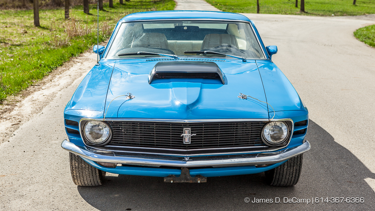 A 1970 Mustang Boss 429 photographed Thursday March 17, 2016 in South Bloomfield, Ohio. (© James D. DeCamp | http://www.JamesDeCamp.com | 614-367-6366)