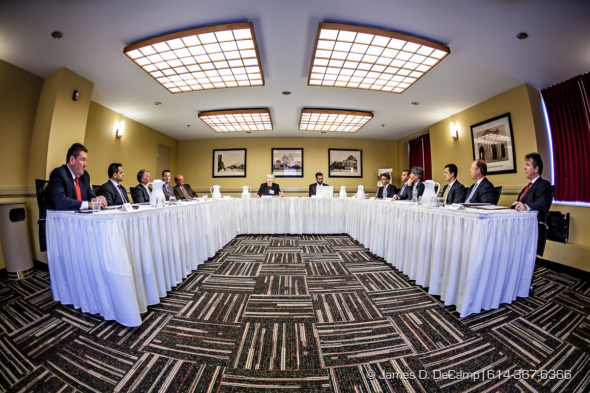 "The HOTEL BUSINESS® 2015 Executive Roundtable—""Attracting Equity Investors, Lenders to Economy Projects"" photographed Thursday June 11, 2015 at the Red Roof Inn Plus in downtown Columbus. (© James D. DeCamp 