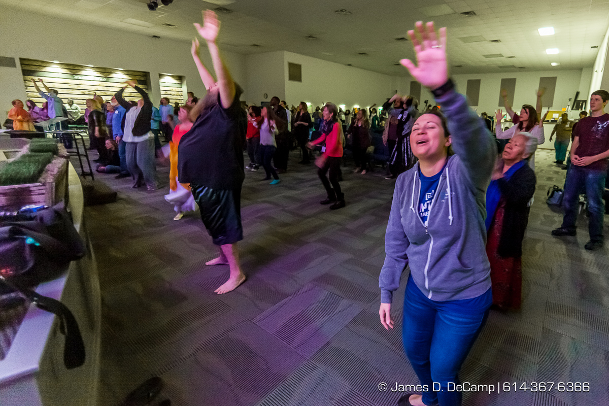 Worship & message at Zion Christian Fellowship photographed Sunday February 28, 2016. (© James D. DeCamp | http://www.JamesDeCamp.com | 614-367-6366)