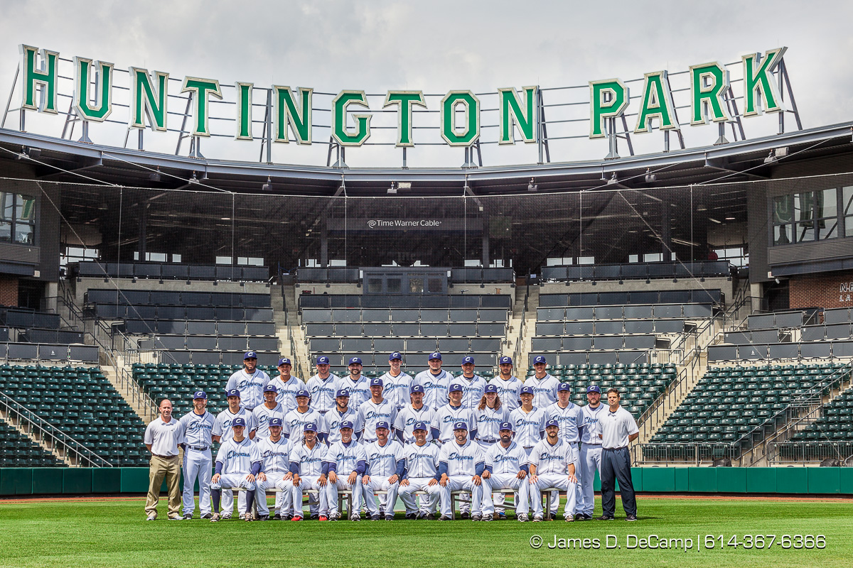 The 2016 Columbus Clippers Official Baseball Card and team photos photographed Wednesday April 6, 2016 at Huntington Park. (© James D. DeCamp | http://www.JamesDeCamp.com | 614-367-6366) @CLBClippers #CLBClippers #614 #AsSeenInColumbus #JDeCampPhoto