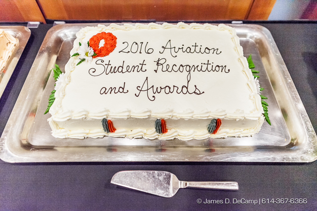 The Ohio State University College of Engineering Center for Aviation Studies 2016 Student Recognition & Awards Banquet photographed Monday April 11, 2016 at the Blackwell Inn & Conference Center. (© James D. DeCamp | http://www.JamesDeCamp.com | 614-367-6366)