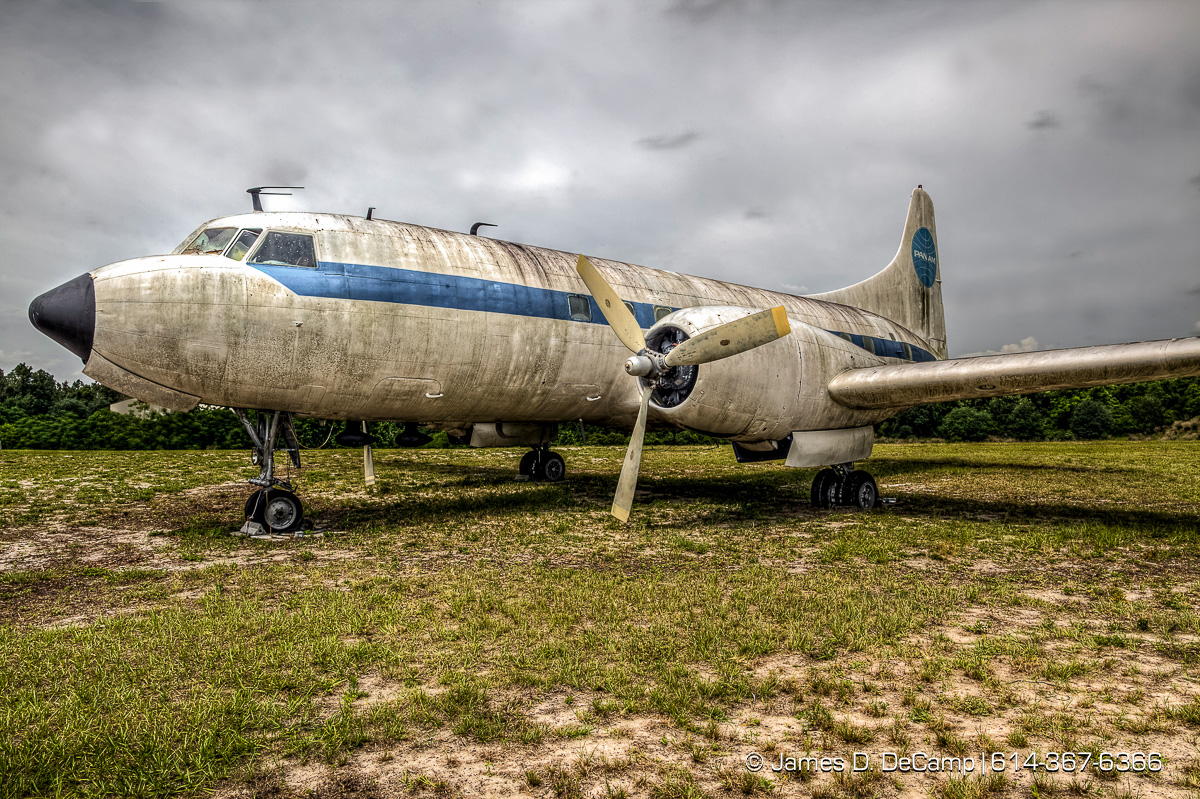 "A Pan Am Convair 240 photographed Tuesday May 17, 2016 at the Orlando-Apopka Airport (X04). Pan American World Airways (Pan Am) Convair CV-240-0 N1022C (cn 147) This aircraft flew for American, Mohawk and Trans Florida Airlines and was to be displayed at the US Airline Industry Museum.(© James D. DeCamp | http://www.JamesDeCamp.com | 614-367-6366) Pilot behind vintage airliner saves memories of air travel's golden age LeRoy Brown, 92, had a flying career spanning almost 60 years April 12, 2013|By Stephen Hudak, Orlando Sentine The 44-passenger vintage airliner, a blue Pan Am logo tattooed on its tail, has proven to be every bit the attention-getter that LeRoy H. Brown envisioned when he parked it at Orlando-Apopka Airport about four years ago. Almost daily, someone calls to ask about the 1940s-era plane after seeing it from U.S. Highway 441, he said. Who owns that old plane? Why is it sitting out there? Can we go inside? ""It's a museum piece, just like I am,"" said Brown, 92, whose flying career began at age 14 in the seat of a crop-duster and spanned almost 60 years. From a seat in the cockpit, the former Pan Am captain witnessed the nation's transition from propeller-driven planes to turbine-powered jets that streak across the skies. As co-founder, president and chief curator of the Apopka-based U.S. Airline Industry Museum, a pie-in-the-sky operation that, he acknowledged, needs ""an angel with money"" to survive, Brown brought the refurbished airliner to a spot along 441 that thousands of motorists pass every day. He estimated that the Convair 240 has cost the not-for-profit museum foundation about $60,000 to acquire, disassemble, transport and reassemble at the Apopka airport. It will never take flight again, but Brown hopes it will stand as a symbol of flying days gone by. Like Brown, the plane, which was delivered to American Airlines on Feb. 27, 1949, recalls a time when air travelers were served an in-flight meal of filet mignon in bordelaise sauce"