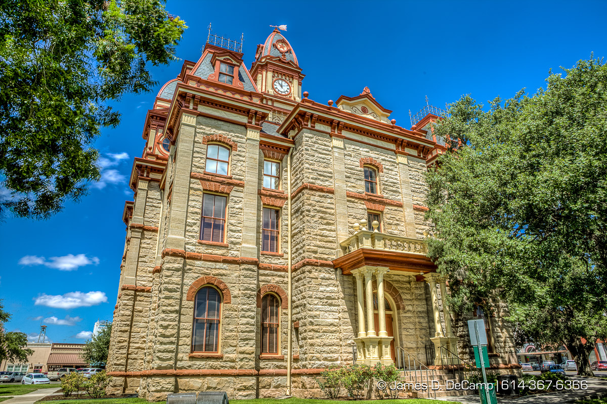 The Caldwell County Courthouse in Lockhart, Texas photographed Wednesday August 3, 2016. (© James D. DeCamp | http://www.JamesDeCamp.com | 614-367-6366)