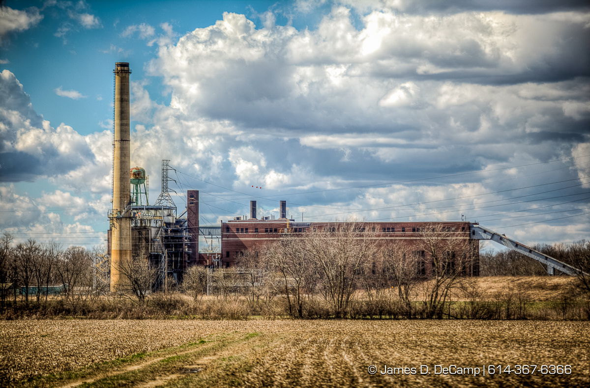 American Electric Power's Picway Power Plant photographed Thursday March 17, 2016 in Comercial Point, Ohio. The plant was retired after 89 years of service when its 59-year-old 100-MW Picway Unit 5 was shut down in May 2015. Picway's first coal fired units began operation in 1926. (© James D. DeCamp | http://www.JamesDeCamp.com | 614-367-6366)