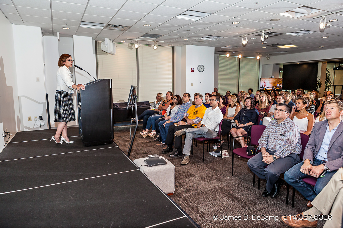 Lane Bryant Town Hall Meeting held Wednesday June 22, 2016 at their Columbus headquarters. (© James D. DeCamp | http://www.JamesDeCamp.com | 614-367-6366)