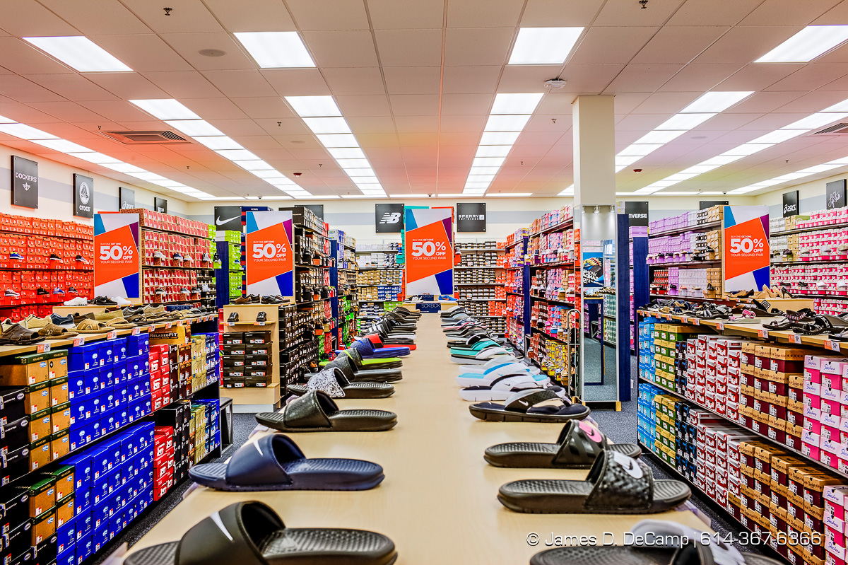 Rack Room Shoes store at the Tanger Outlet Mall in Columbus (Delaware/Galena) Ohio photographed Friday June 24, 2016. (© James D. DeCamp | http://www.JamesDeCamp.com | 614-367-6366)