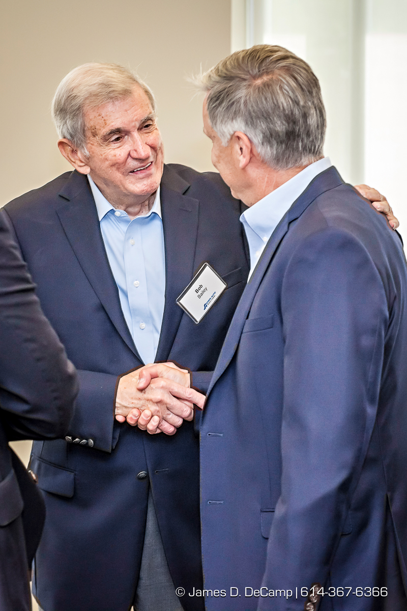 Former State Auto Insurance CEO Bob Bailey photographed Wednesday July 6, 2016 during his visit to the Columbus headquarters. (© James D. DeCamp   http://www.JamesDeCamp.com   614-367-6366)