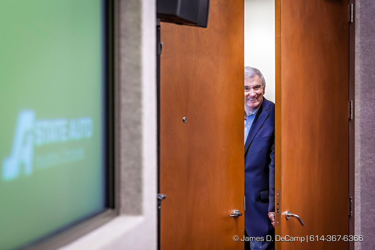 Former State Auto Insurance CEO Bob Bailey photographed Wednesday July 6, 2016 during his visit to the Columbus headquarters. (© James D. DeCamp | http://www.JamesDeCamp.com | 614-367-6366)