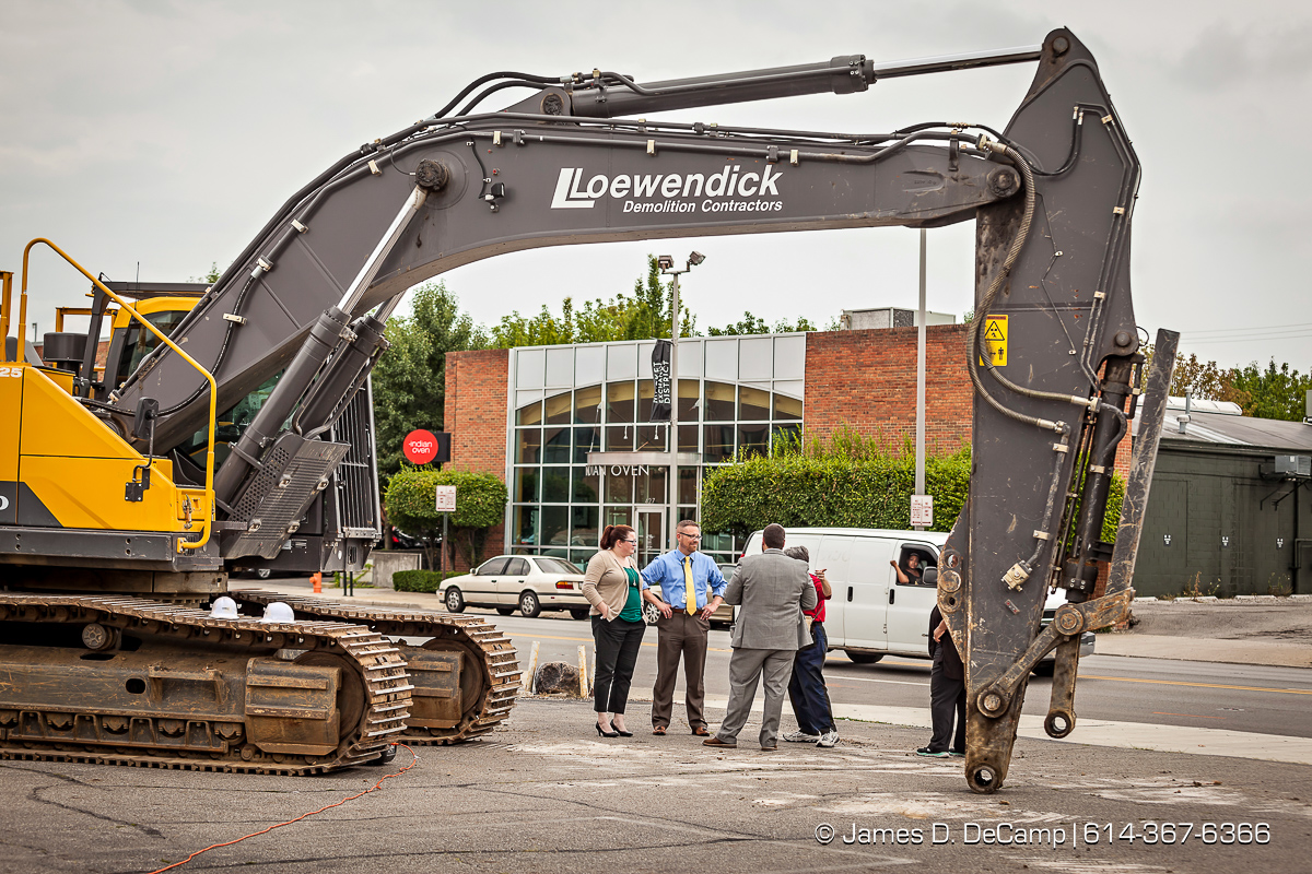 The Demolition Party/Ground Breaking of the new Home2 Suites by Hilton extended stay hotel on East Main Street in downtown Columbus photographed Thursday July 28, 2016 for the Witness Hospitality Group. (© James D. DeCamp | http://www.JamesDeCamp.com | 614-367-6366)