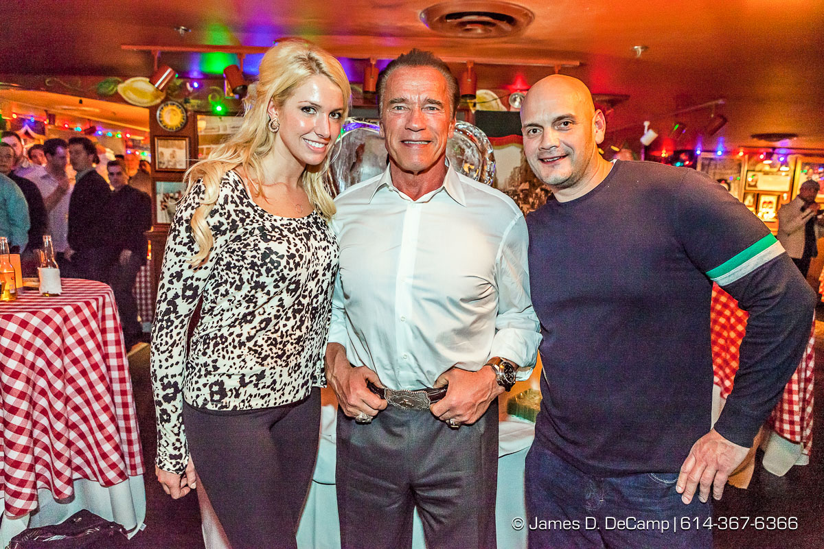 Arnold Schwarzenegger meet & greet photographed February 28, 2014 at Buca di Bepo in Columbus Ohio as part of the IFBB Arnold Sports Festival. (© James D. DeCamp | http://www.JamesDeCamp.com | 614-367-6366)