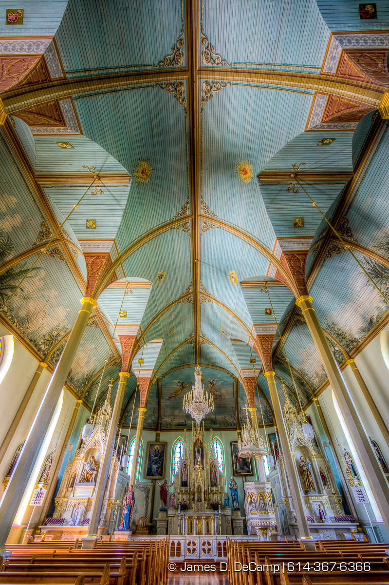 St. Mary's Church of the Assumption in Praha, Texas, one of the Texas Painted Churches photographed Wednesday August 3, 2016. (© James D. DeCamp | http://www.JamesDeCamp.com | 614-367-6366)