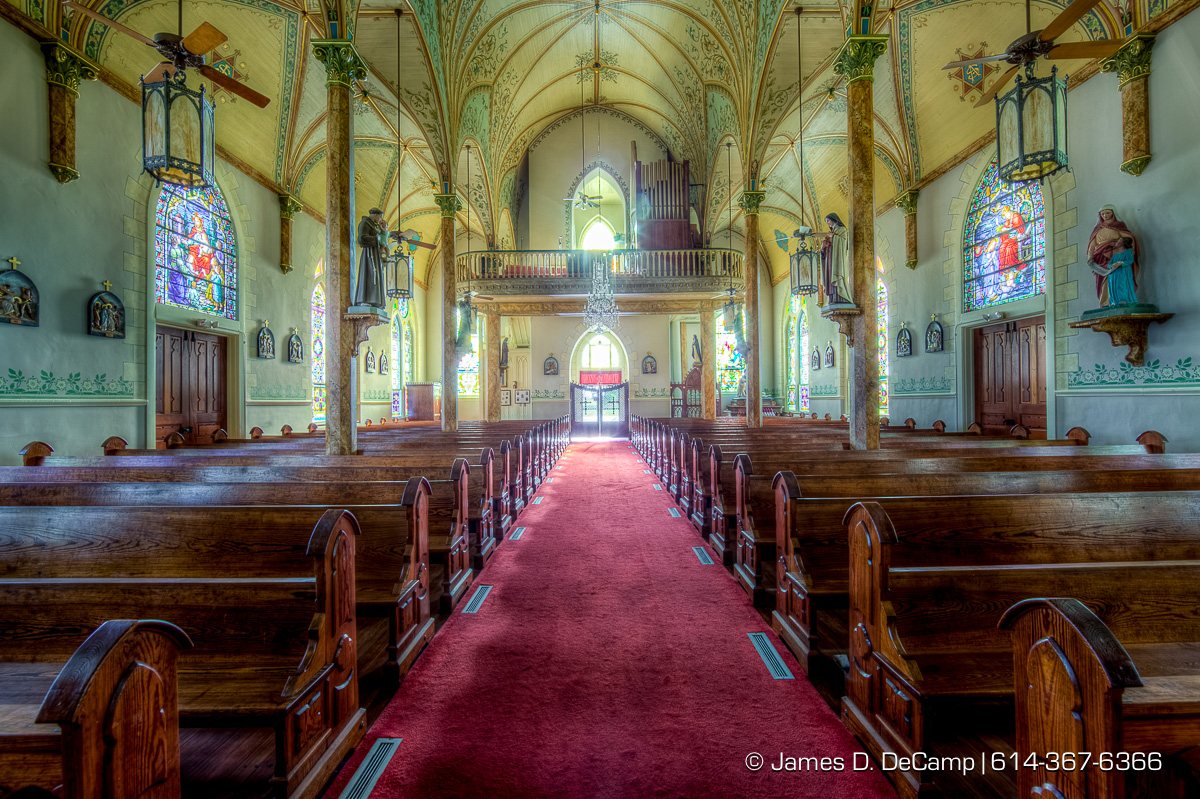 St. Mary Catholic Church in High Hill, Texas, one of the Texas Painted Churches photographed Wednesday August 3, 2016. (© James D. DeCamp   http://www.JamesDeCamp.com   614-367-6366)