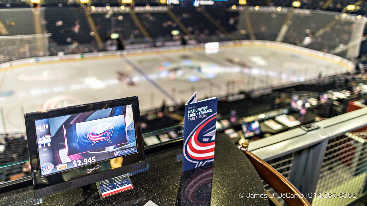 The Columbus Blue Jackets Opening night photographed Thursday, October 13, 2016 at Nationwide Arena. (© James D. DeCamp   http://JamesDeCamp.com   614-367-6366)