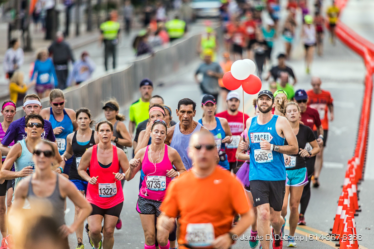 The 2016 Nationwide Childrens Hospital Columbus Marathon photographed Sunday, October 16, 2016 in Columbus, Ohio. (© James D. DeCamp   http://JamesDeCamp.com   614-367-6366)