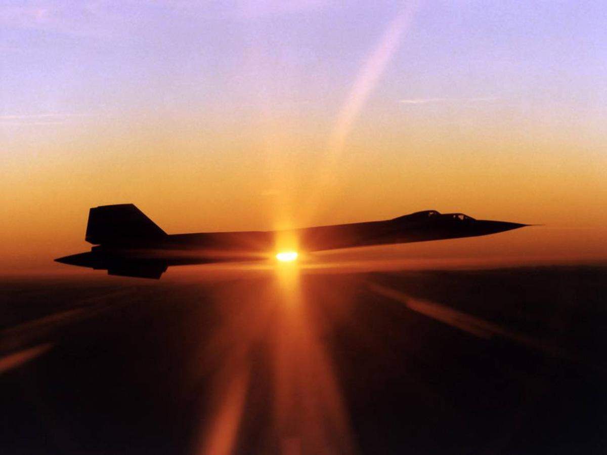 SR-71 in flight.  Public domain photo courtesy of NASA.