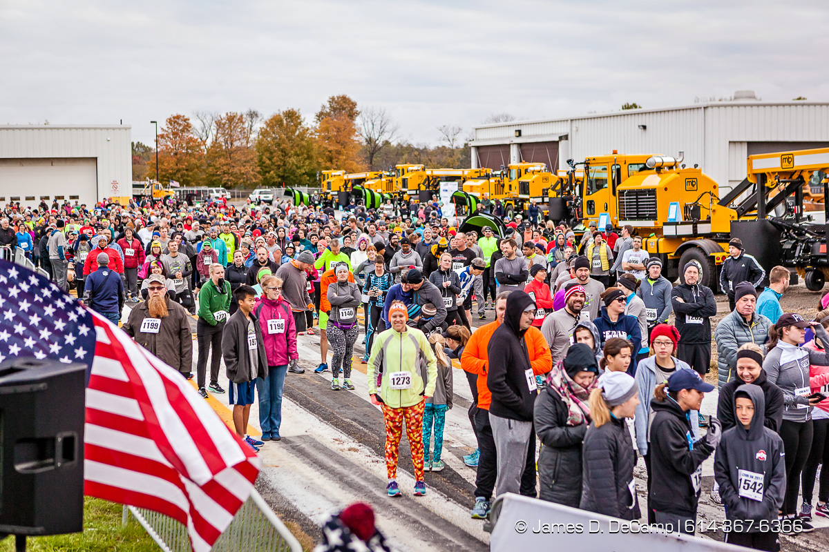 The John Glenn International Runway 5K Run & Walk photographed Sunday, October 29, 2017 at John Glenn Columbus International Airport. All proceeds were donated to Honor Flight Columbus, a nonprofit organization that provides senior veterans with a day in the nation's capital to visit the memorials built in their honor. (© James D. DeCamp | http://JamesDeCamp.com | 614-367-6366)