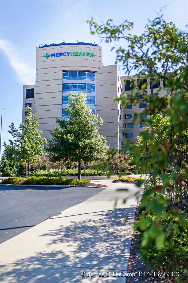 The unveiling of the new Mercy Health St. Rita's Medical Center signage photographed Monday, September 25, 2017. (© James D. DeCamp | http://JamesDeCamp.com | 614-367-6366)