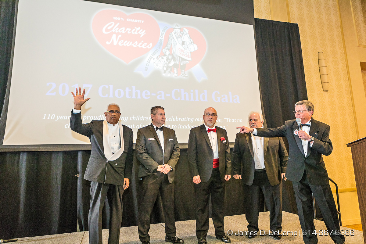 The 2017 Clothe-a-Child Gala and 110th annual Charity Newsies Newspaper Auction photographed Thursday, November 30, 2017 at the Hollywood Casino Ballroom. (© James D. DeCamp | http://JamesDeCamp.com | 614-367-6366)