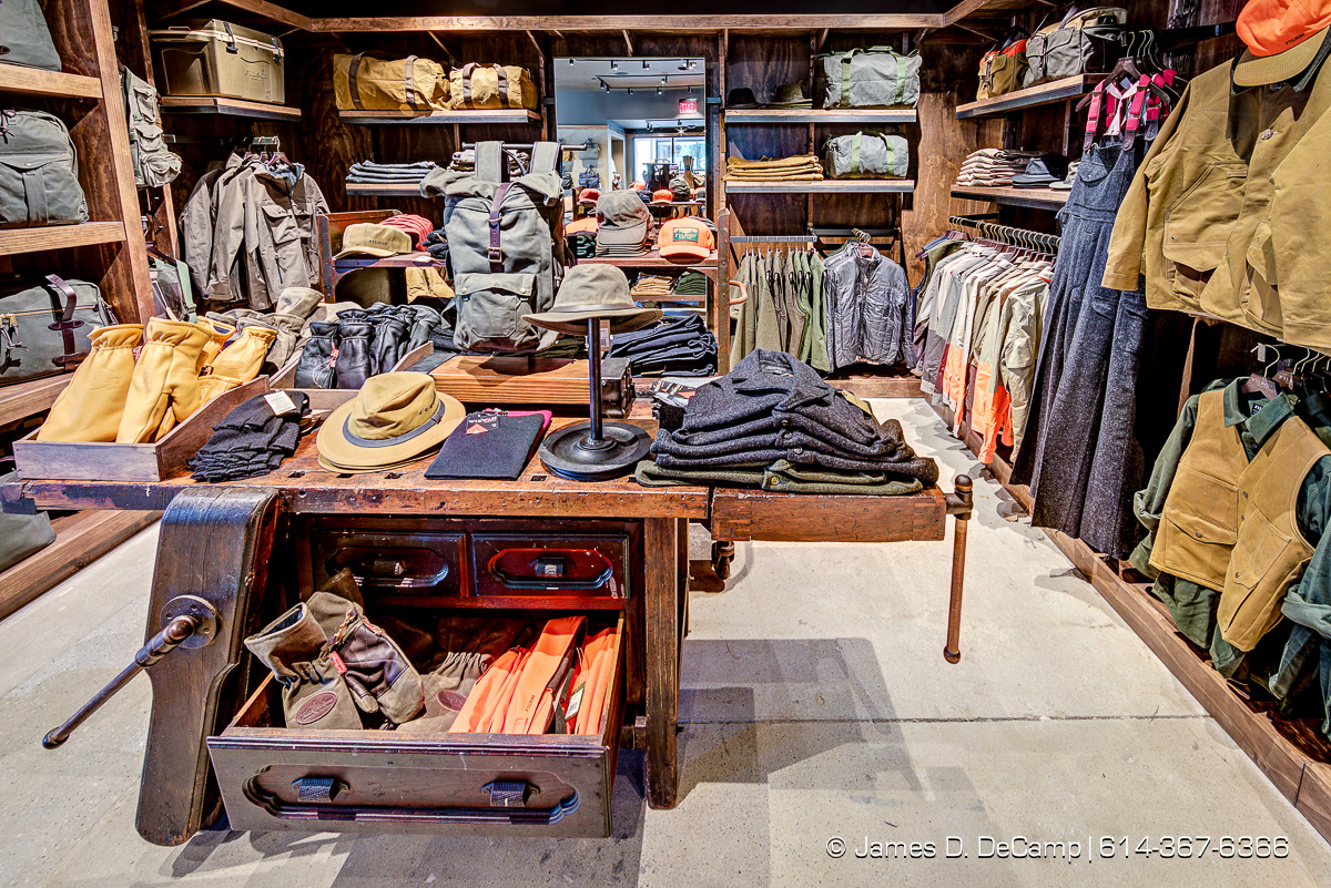 The C.C. Filson Co. store photographed Thursday, November 30, 2017 at the Easton Town Center in Columbus, Ohio. (© James D. DeCamp | http://JamesDeCamp.com | 614-367-6366)