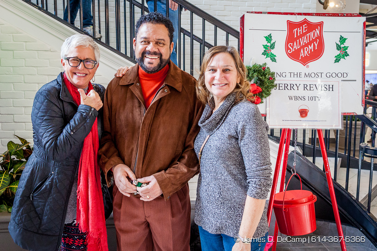 Jerry Revish manning the Salvation Army station at the Easton Town Center photographed Saturday, December 16, 2017. (© James D. DeCamp | http://JamesDeCamp.com | 614-367-6366)