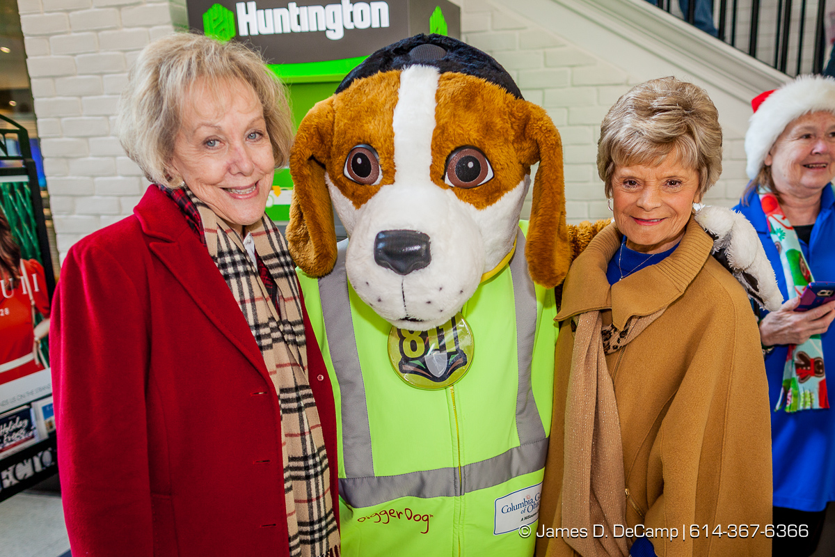 Digger Dog manning the Salvation Army station at the Easton Town Center photographed Saturday, December 16, 2017. (© James D. DeCamp | http://JamesDeCamp.com | 614-367-6366)