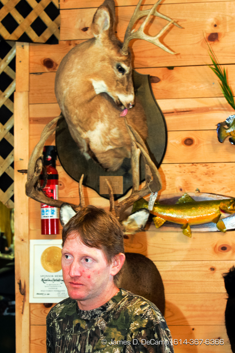 Darwin Kumlin who runs a taxidermist service in De Soto Wisconsin on September 25, 2004 on day 2 of the 2004 'Real People Tour' of middle America. (© James D. DeCamp | http://www.JamesDeCamp.com | 614-367-6366) [Photographed with Canon 1D MkII cameras in RAW mode with L series lenses]