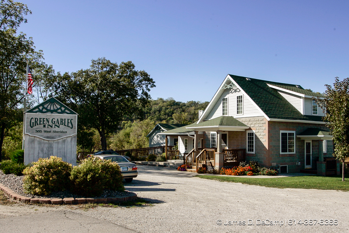Green Gables Inn in Lanesboro, Minnesota photographed Sunday September 26, 2004 on day 3 of the 2004 'Real People Tour' of middle America. (© James D. DeCamp | http://www.JamesDeCamp.com | 614-367-6366) [Photographed with Canon 1D MkII cameras in RAW mode with L series lenses]